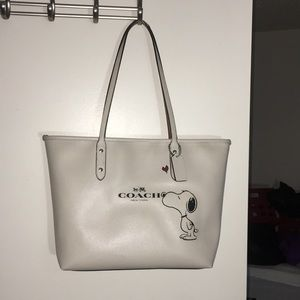 Coach authentic large snoopy tote